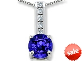 Original Star K™ Simulated Tanzanite Round 7mm Pendant