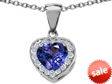 Original Star K™ 8mm Heart Shape Simulated Tanzanite Pendant