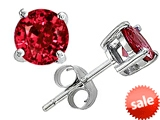 Original Star K™ Round 7mm Created Ruby Earrings Studs style: 302285
