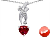 Original Star K™ 8mm Heart Shape Created Ruby Pendant style: 302348