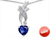 Original Star K™ 8mm Heart Shape Created Sapphire Pendant style: 302350