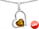 Original Star K™ 7mm Heart Shape Citrine Pendant style: 302387