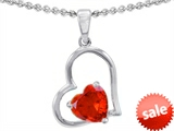 Original Star K™ 8mm Heart Shape Simulated Fire Opal Pendant