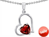Original Star K™ 7mm Heart Shape Garnet Pendant style: 302389