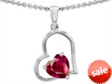 Original Star K™ 7mm Heart Shape Created Ruby Pendant