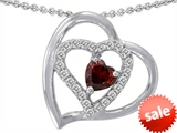 Original Star K™ 6mm Heart Shape Genuine Garnet Pendant