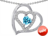 Original Star K™ 6mm Heart Shape Genuine Blue Topaz Pendant style: 302424