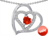 Original Star K™ Heart Shape Simulated Orange Mexican Fire Opal Heart Pendant style: 302426