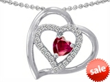 Original Star K™ 6mm Heart Shape Created Ruby Pendant