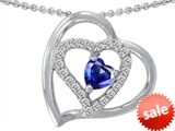 Original Star K™ 6mm Heart Shape Created Sapphire Pendant