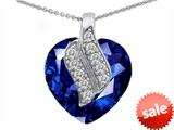 Original Star K™ Large 15mm Heart Shaped Created Sapphire Soul Mate Pendant style: 302599