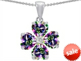 Celtic Love by Kelly 6mm Heart Shape Mystic Topaz Lucky Clover Pendant style: 302627