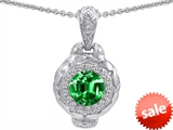 Original Star K™ 8mm Simulated Emerald Bali Style Pendant style: 302635