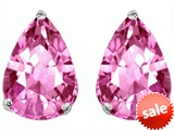 Original Star K™ Pear Shape 9x7mm Created Pink Sapphire Earring Studs