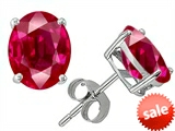 Original Star K™ Oval 8x6mm Created Ruby Earring Studs