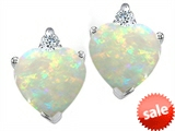 Original Star K™ 7mm Heart Shape Created Opal Earrings
