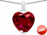 Original Star K™ 10mm Heart Shaped Created Ruby Pendant style: 302922