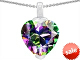 Original Star K™ 10mm Heart Shaped Genuine Mystic Topaz Pendant style: 302923