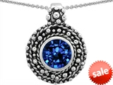 Original Star K™ Bali Style Round 7mm Created Sapphire Pendant style: 302943