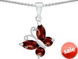 Original Star K™ Butterfly  Pendant Made with Genuine Garnet
