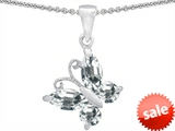 Original Star K™ Butterfly 1-inch Pendant Made with Genuine White Topaz