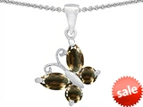 Original Star K™ Butterfly Pendant Made with Genuine Smoky Quartz style: 302961