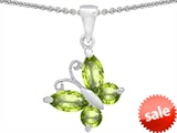 Original Star K™ Butterfly Pendant Made with Genuine Peridot style: 302962