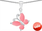 Original Star K™ Butterfly Pendant Made with Pink Sea Shell style: 302970