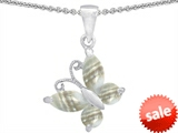Original Star K™ Butterfly Pendant Made with Sea Shell