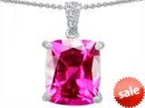 Original Star K™ Large 12x10 Cushion Cut Created Pink Sapphire Designer Pendant style: 302980