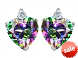 Original Star K™ Heart Shape 7mm Rainbow Mystic Topaz Earrings