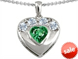 Original Star K™ Heart Shape Simulated Emerald Heart Pendant style: 303106