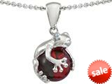 Original Star K™ Frog Pendant With 10mm Simulated Ruby Ball style: 303112