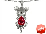 Original Star K™ Large Mouse Pendant With 11x9mm Pear Shape Created Ruby style: 303134
