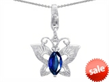 Original Star K™ Butterfly Pendant Made with Created Sapphire style: 303209