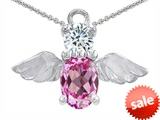 Original Star K™ Angel Of Love Protection Pendant Made With Created Pink Sapphire style: 303221