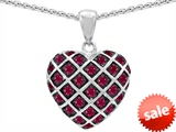 Original Star K™ Created Ruby Puffed Heart Pendant