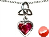 Celtic Love by Kelly Love Knot Pendant with Created Heart Ruby