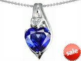 Original Star K™ Large 10mm Heart Shape Created Sapphire Heart Pendant style: 303326
