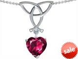 Celtic Love by Kelly Love Knot Pendant with Heart Shape 8mm Created Ruby style: 303360