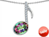 Original Star K™ Musical Note Pendant With Multicolor Mystic Topaz Oval 11x9 style: 303607