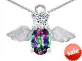 Original Star K™ Angel Of Love Protection Pendant With Oval 8x6mm Genuine Mystictopaz. style: 303626