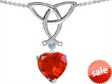 Celtic Love by Kelly Love Knot Pendant with Heart Shape 8mm Simulated Fire Mexican Opal style: 303637