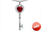 Original Star K™ Key To My Heart Love Pendant With 7mm Heart Shape Created Ruby style: 303651