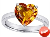 Original Star K™ Large 10mm Heart Shape Solitaire Engagement Ring With Simulated Citrine style: 303774