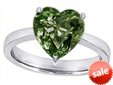 Original Star K™ Large 10mm Heart Shape Solitaire Engagement Ring with Simulated Green Sapphire style: 303776