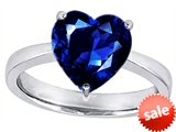 Original Star K™ Large 10mm Heart Shape Solitaire Engagement Ring with Created Sapphire style: 303784