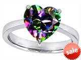 Original Star K™ Large 10mm Heart Shape Solitaire Engagement Ring with Multicolor Mystic Topaz style: 303785