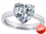 Original Star K™ Large Heart Shape Solitaire Engagement Ring with Genuine White Topaz