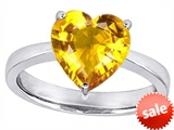 Original Star K™ Large 10mm Heart Shape Solitaire Engagement Ring with Simulated Yellow Sapphire